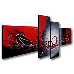 @Overstock - Artist: Unknown   Title: Red Wing  Product type: Hand-painted  gallery-wrapped canvas 4-piece art set  http://www.overstock.com/Home-Garden/Hand-painted-Red-Wing-4-piece-Gallery-wrapped-Canvas-Art-Set/6532326/product.html?CID=214117 $119.99