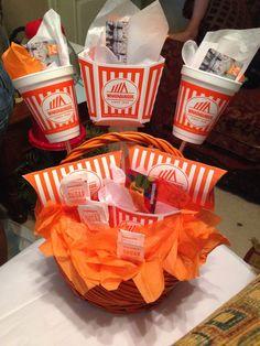 S whataburger gift basket work texas gifts, christma Teacher Gift Baskets, Gift Baskets For Men, Themed Gift Baskets, Raffle Baskets, Theme Baskets, Basket Gift, 21st Birthday Gifts, Birthday Gifts For Best Friend, 9th Birthday