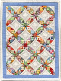 9940 Scrappy Waltz mini quilt by Martha Wolfersberger for AAQI Quilt Auction, July 2012