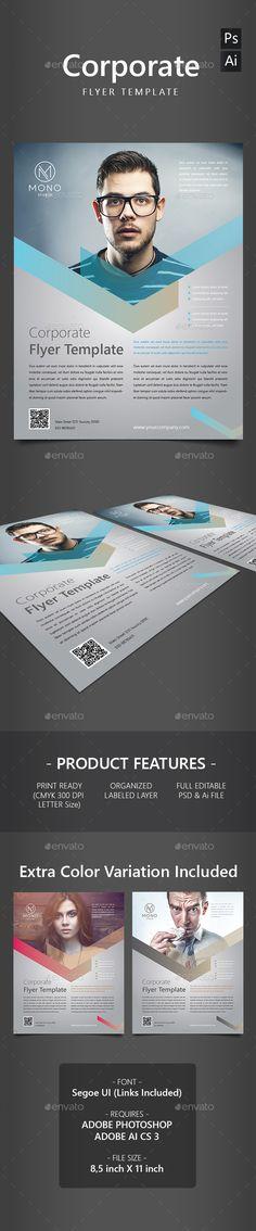 Corporate Flyer Template PSD, AI #design Download: http://graphicriver.net/item/corporate-flyer-template/13823277?ref=ksioks