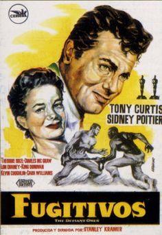 Fugitivos (1958) EEUU. Dir: Stanley Kramer. Drama. Racismo - DVD CINE 595