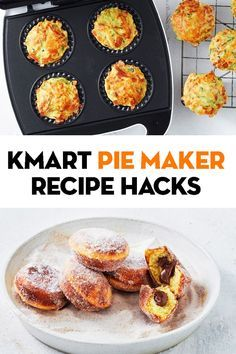 Did you know your Kmart pie maker can do more than just pies! We've gathered all our recipes, from muffins to pancakes, that can easily be adapted to work in a pie maker so you're never short of ideas. Mini Pie Recipes, Pastry Recipes, Baking Recipes, Snack Recipes, Tart Recipes, Sweet Recipes, Breville Pie Maker, Just Pies, Mini Pies