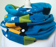 Kinder LOOP - Schlauchschal (Blautöne) von mission creation auf DaWanda.com
