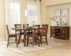 Kingston 7 Piece Counter Height Set