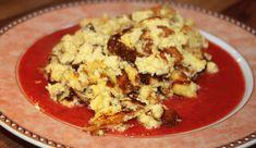 Polentaschmarrn auf Erdbeerspiegel Dessert, Cauliflower, Grains, Rice, Vegetables, Food, Strawberries, Kuchen, Food Food