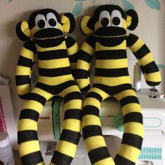 Hello #sockmonkeys #finished #happydays #busy #sewing #handmade #sockmonkeymaker #sunnyteddys