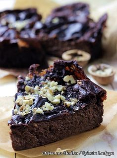 Brownie jaglane (z kaszy jaglanej) - dietetyczne - najlepsze - BE FIT Picture - JAGLANE BEANS (made from millet) - dietetic - the best - BE FIT! Sweet Recipes, Cake Recipes, Desserts Sains, Tasty, Yummy Food, Vegan Cake, Healthy Desserts, Love Food, The Best