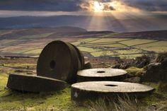 Millstones at Stanage Edge...Peak District, Derbyshire England