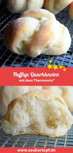 Fluffige Quarkknoten – Rezept für den Thermomix® Fluffy curd knots - recipe for the Thermomix® Easy Cooking, Healthy Cooking, Cooking Tips, Breakfast Casserole, Breakfast Recipes, Sloppy Joe, Dog Recipes, Healthy Eating Tips, Pampered Chef