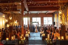 Chicago Gallery Wedding – Courtney   Danny.  Aisle Decor by Studio AG at Gallery 1028. Photo by Wasio Photography