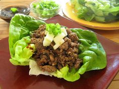 Spiced Turkey Lettuce Wraps with Green Apple and Butter Lettuce