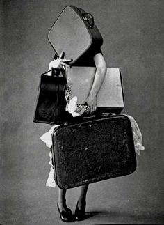 Tim Walker for Vogue, Iris Palmer and her suitcases