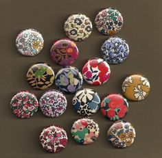 One Inch Magnets  Liberty of London Fabrics  by misschief on Etsy, $9.00