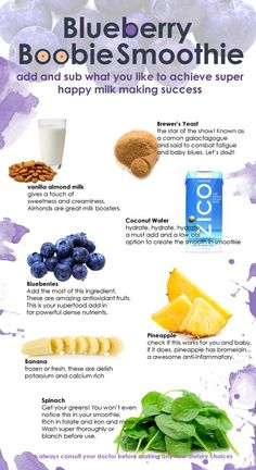 Delicious Blueberry Based Healthy Lactation Smoothie for Nursing Mothers