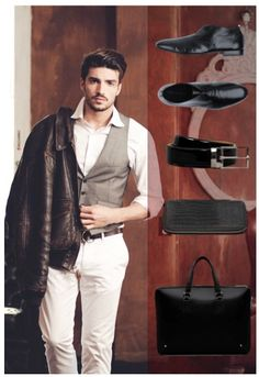 Gentlemen's Corner #Italian #fashion #men #shoes #footwear #accessories #nyc #black #messenger #bag #belt Carlo Pazolini