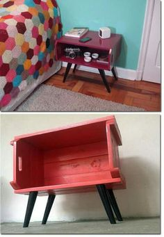 Home Decored Diy Recycle 38 Ideas Handmade Furniture, Upcycled Furniture, Furniture Making, Home Furniture, Diy Room Decor, Home Decor, Furniture Makeover, Home Projects, Decoration
