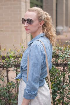 styling a denim shir