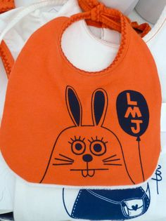 Loving this bright orange bunny bib from Little Marc Jacobs for spring 2013