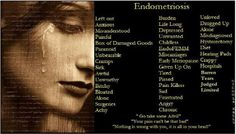 """Horrible way to """"live"""" your life. all true. Endometriosis And Infertility, Endometriosis Awareness, Pcos, Fibromyalgia, National Awareness Months, Early Menopause, Complex Regional Pain Syndrome, Invisible Illness, Fact Quotes"""