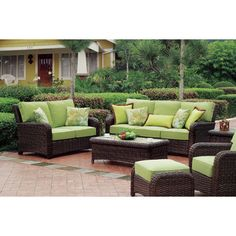South Sea Rattan Saint Tropez 6 Piece Deep Seating Group with Cushions & Reviews | Wayfair
