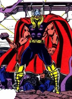 Eric Masterson as Thor III.  Art by Ron Frenz.