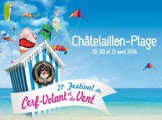 21e Festival du cerf-volant et du vent. Du 19 au 21 avril 2014 à Châtelaillon-Plage.