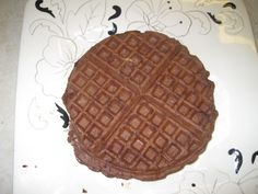 Double chocolate coconut protein waffles. I am going to have to try these.