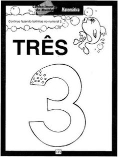 JARDIM COLORIDO DA TIA SUH: Atividades com o número 3 prontas para imprimir