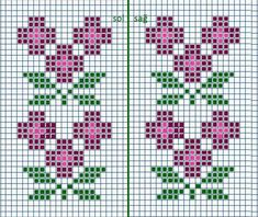 This Pin was discovered by Emi Cross Stitch Geometric, Easy Cross Stitch Patterns, Small Cross Stitch, Cross Stitch Heart, Cross Stitch Borders, Cross Stitch Flowers, Cross Stitch Designs, Cross Stitching, Cross Stitch Embroidery