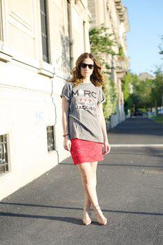 Marc Jacobs tshirt - Rinascimento skirt - Valentino shoes