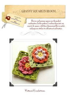 Granny Square In Bloom pattern FREE