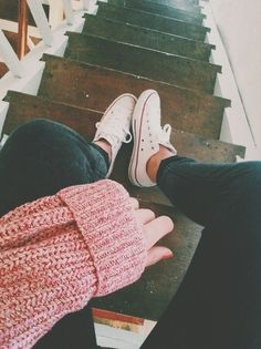 :: colorful sweaters and converse