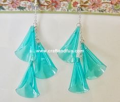 DIY earrings with recycled pet bottle