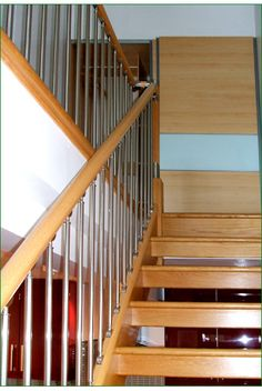 Rock Farm Fusion Stairs Oak Frame House, Banisters, Glass Panels, Chrome, Stairs, Doors, Rock, Home Decor, Ladders
