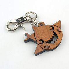 Hey, I found this really awesome Etsy listing at https://www.etsy.com/listing/106553769/wood-shark-purse-charm-bamboo-key-chain