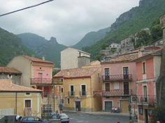 Street in Osomarso, Calabria, Italy