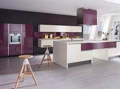 Darty Cuisine équipée - couleur prune - grise - rose   Cuisine ...