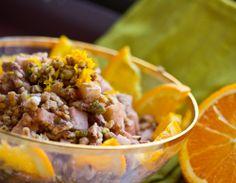 A very interesting charoseth recipe!  Walnut Citrus Spice Charoseth