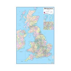 """Brewster WPE0593 36"""" x 24"""" - British Isles Dry Erase Map - ($21) ❤ liked on Polyvore featuring home, home decor, wall decals, wallpaper, brewster home fashions and map home decor"""