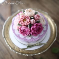 해피 추석  오늘밤 둥근달 뜨기를 바래 보아요  #플라워케이크 #flowercake