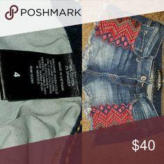 Shorts Tribal designed Express Shorts Jean Shorts