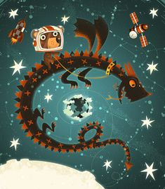 un* due* tre* ... ilaria: KIDS' ILLUSTRATIONS /OUTER SPACE