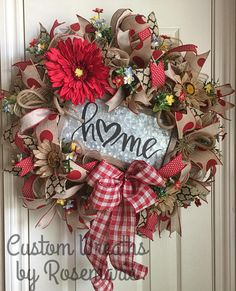 Wreaths make a great decoration for your home or as a gift for someone who appreciates and loves all things handmade by a designer. Custom Wreaths by Rosemarie helps you create beautiful, handmade wreaths for your home from Pearland, Texas. Christmas Mesh Wreaths, Autumn Wreaths, Deco Mesh Wreaths, Door Wreaths, Spring Wreaths, Floral Wreaths, Diy Wreath, Wreath Ideas, Burlap Wreath