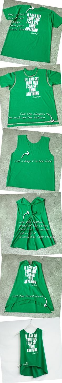 Ladies, customize your Tee into a sweet tank! by tami