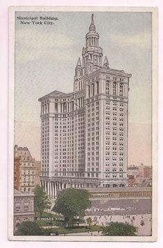 New York City Architecture Municipal Building early 1900's postcard souvenir