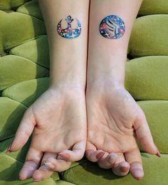 Space Nerd tattoos (Star Wars and Mass Effect) by Briana at Buju Tattoo San Diego CA
