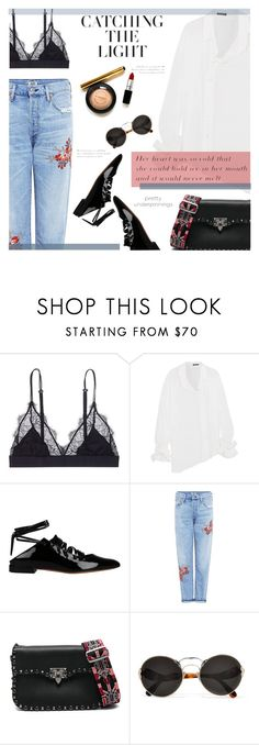 """""""PRETTY UNDERPINNINGS : The Shower"""" by riskiarrafida ❤ liked on Polyvore featuring LoveStories, Ann Demeulemeester, Givenchy, Citizens of Humanity, Valentino and Prada"""