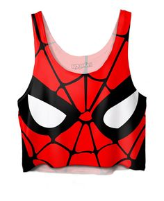 f9f6228f5646d Spiderman Crop Top – RageJunkie Spiderman Outfit