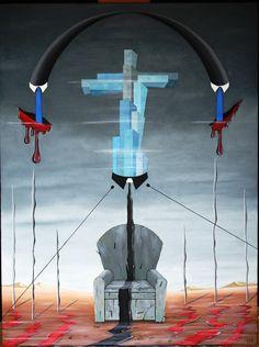 Tirannia del progresso, tyranny of progress, 2013 cm 60x70, olio su tela, oil on canvas, Pasquale Mastrogiacomo. sito web www.pasqualemastrogiacomo.it
