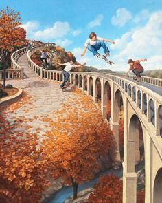 Great writing prompts! ...surreal optical illusion paintings by rob gonsalves (3)